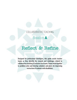 Collaborative Teaching Session A: Reflect & Refine