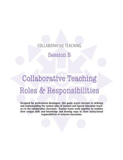 Collaborative Teaching Session B: Roles & Responsibilities of Collaborative Teachers