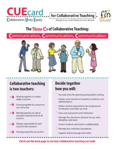 CUE Card: for Collaborative Teaching
