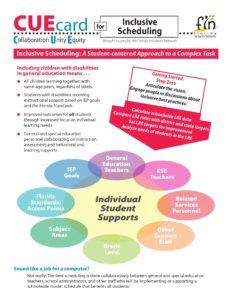 CUE Card: Inclusive Scheduling