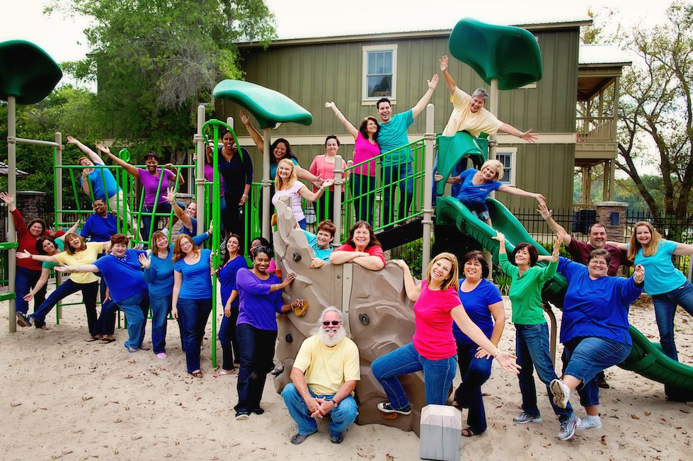 FIN Facilitators on the playground