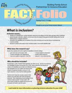 Family FACT Folio, volume 1