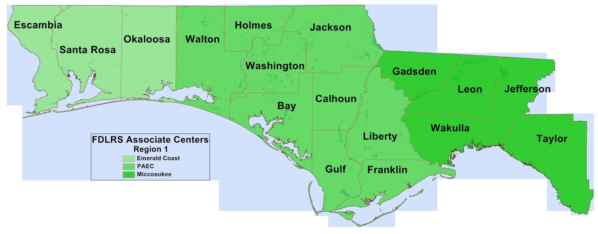 FIN Region 1 Map
