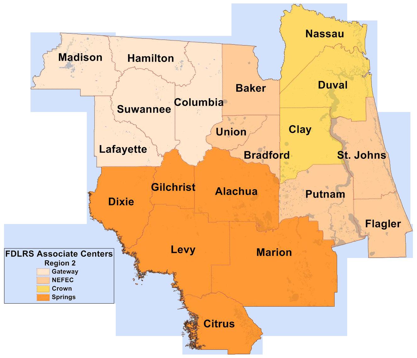 FIN Region 2 Map