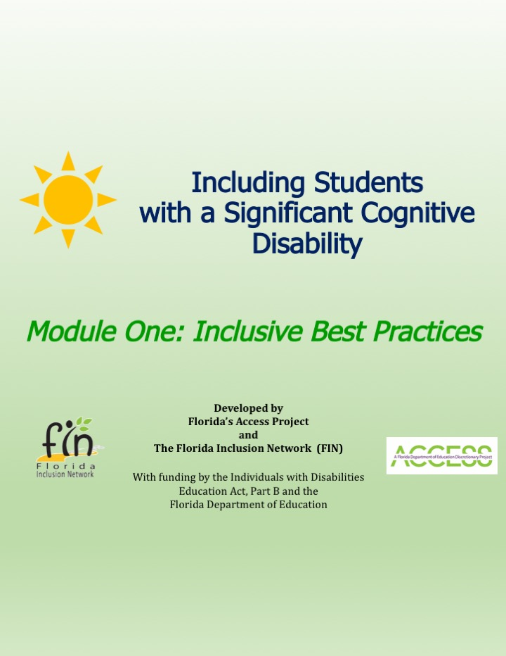 Including Students with a Significant Cognitive Disability: Module 1 thumbnail and link