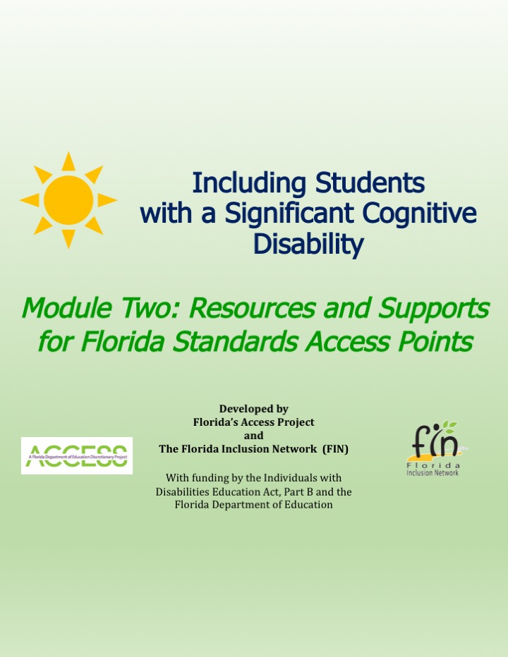 Including Students with a Significant Cognitive Disability: Module 2 thumbnail and link